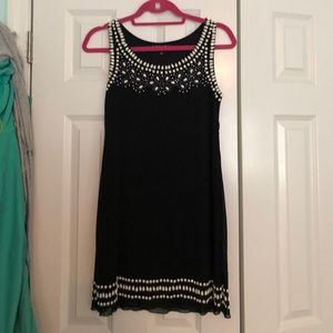 Papillon Dress with white bead detailing